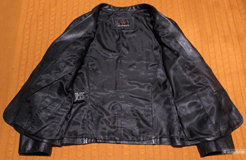 Пиджак кожаный, размер 42
