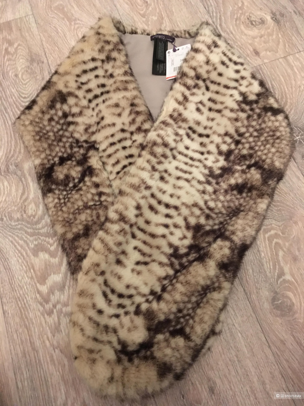 Меховой шарф Mango one size