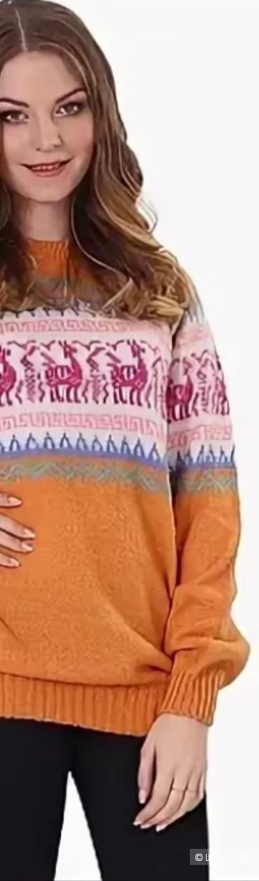 Свитер из шерсти ламы-альпаки, ноу нейм, 46-48