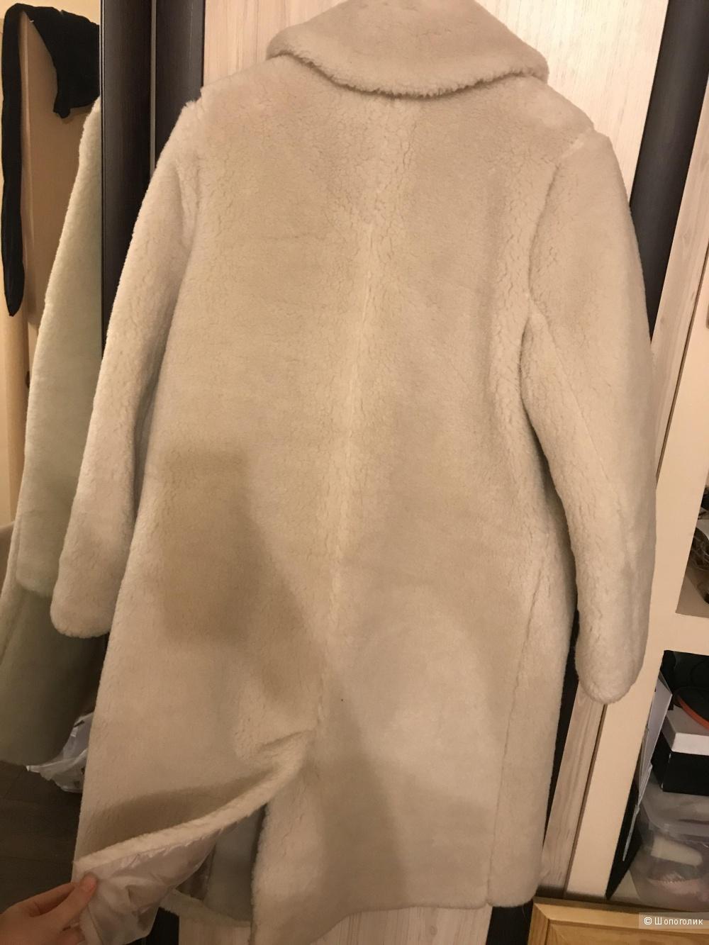 Искусственная шуба кремового цвета Warehouse, размер ЮК12