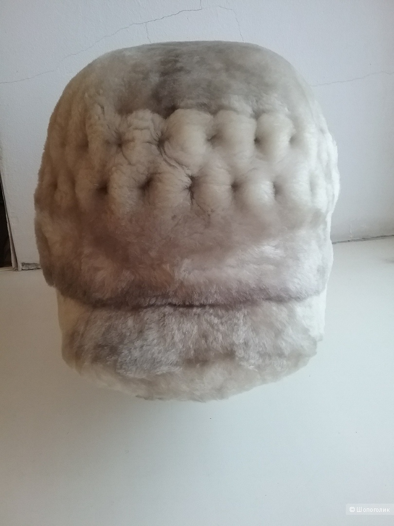 Серая шапка из натурального меха Renar,  54-60 р.