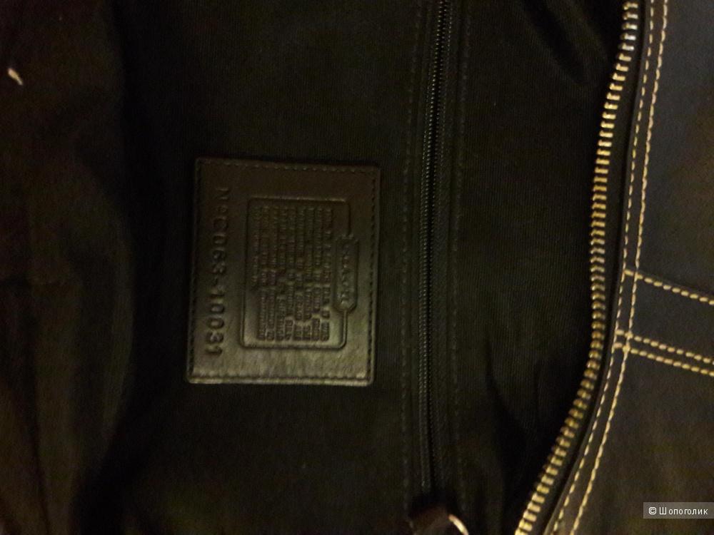 Кожаная сумка COACH