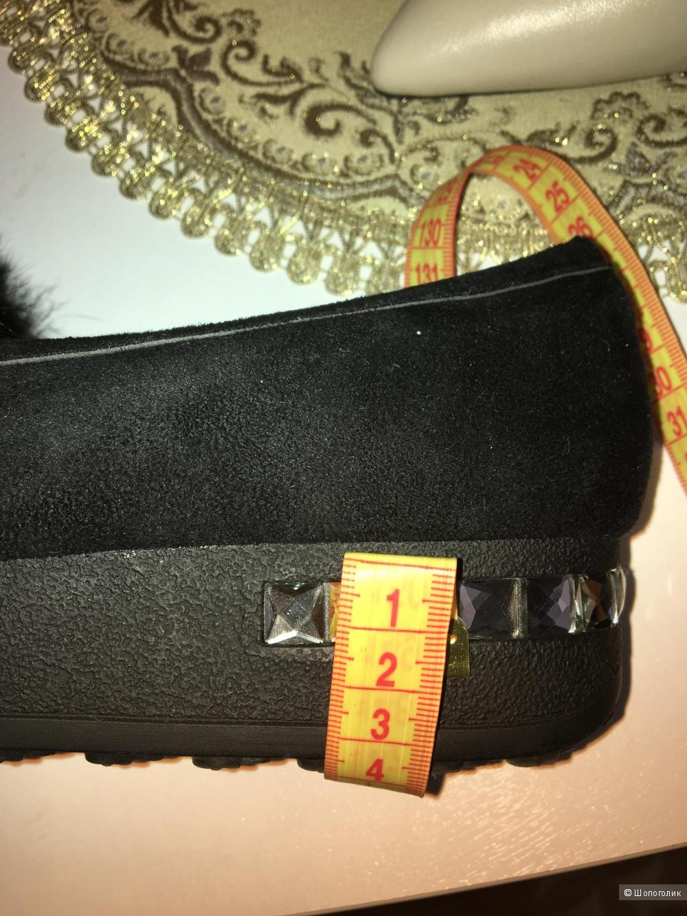 Туфли EIFFELLO( лоферы  с мехом ), Размер 36
