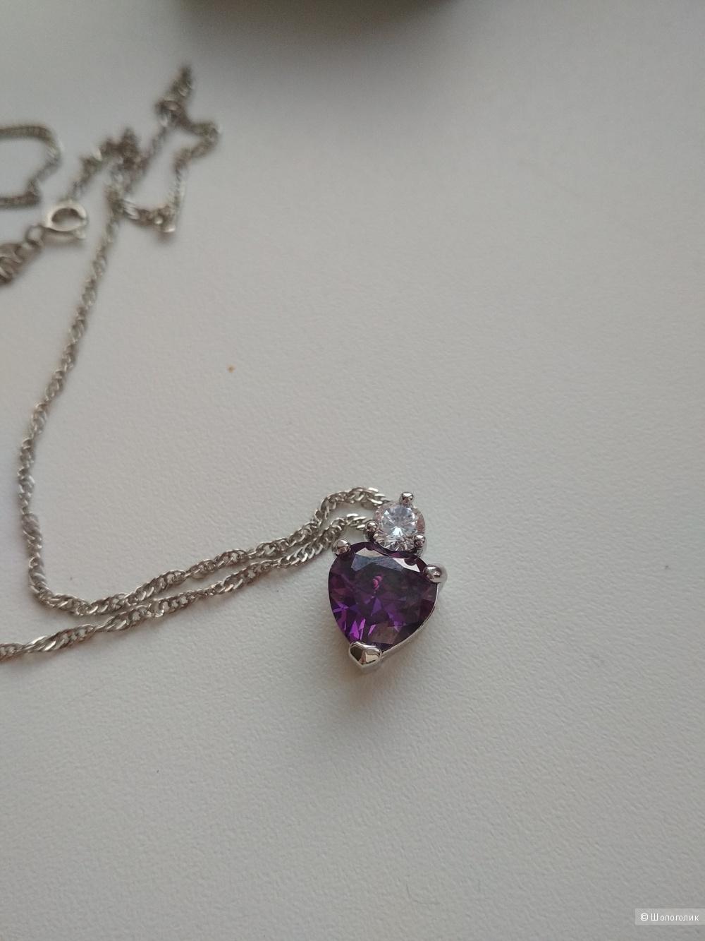 Комплект серьги, подвеска, кольцо серебро 925 пробы