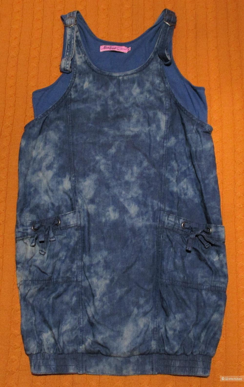 Платье-баллон Incity джинсовое, 42 размер
