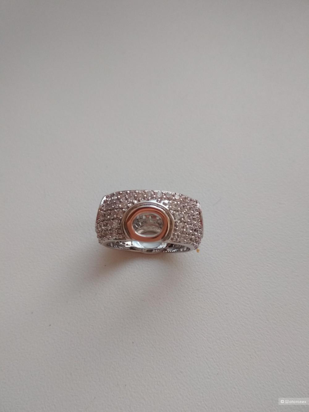 Комплект: подвеска, кольцо, серьги серебро S925
