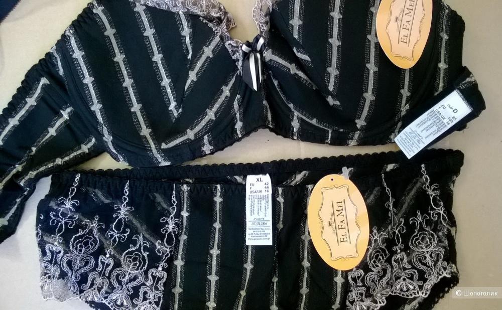 Комплект El Fa Mei бюстгальтер 85 D + трусики XL
