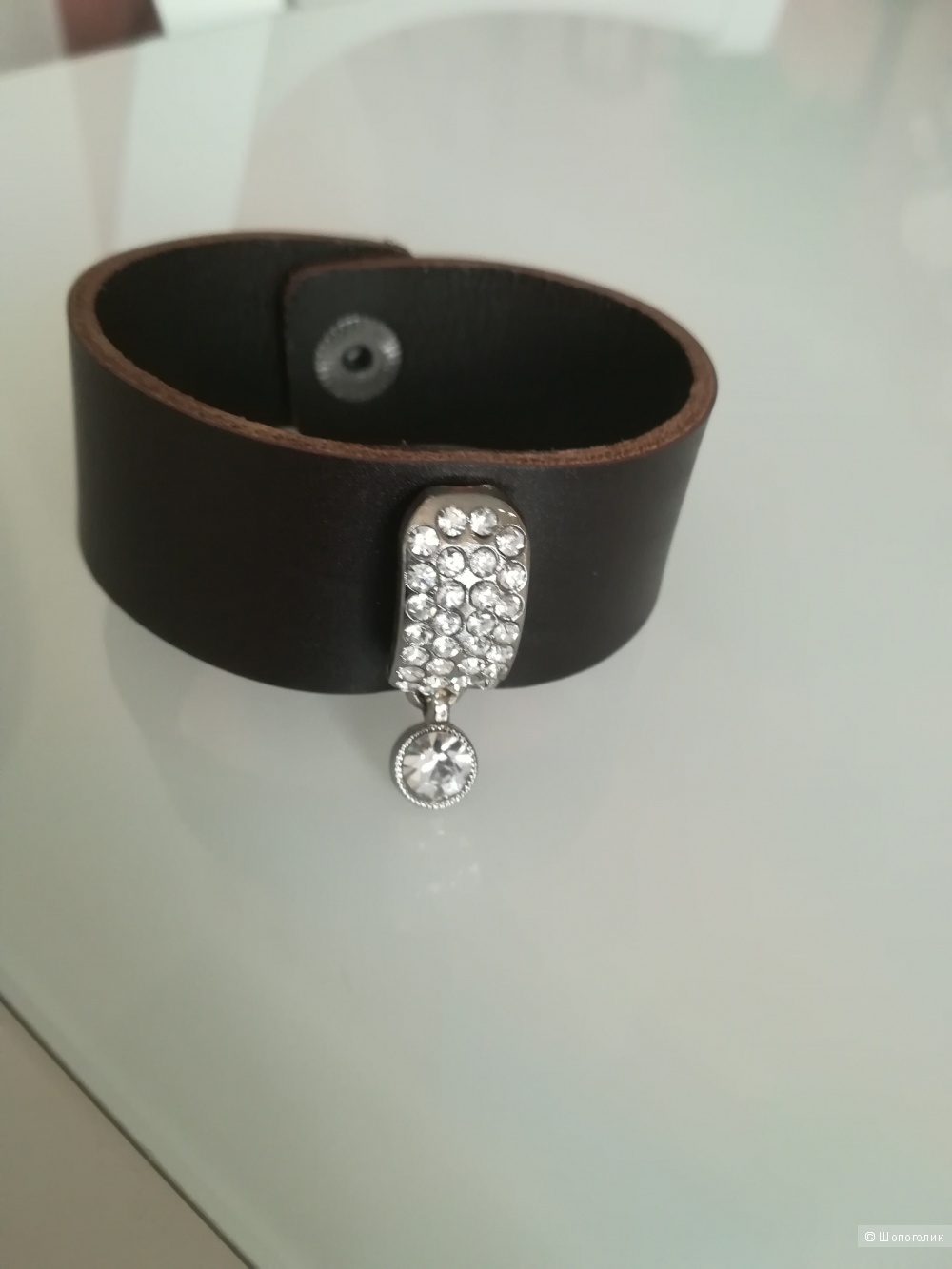 Кожаный браслет no name, размер one size
