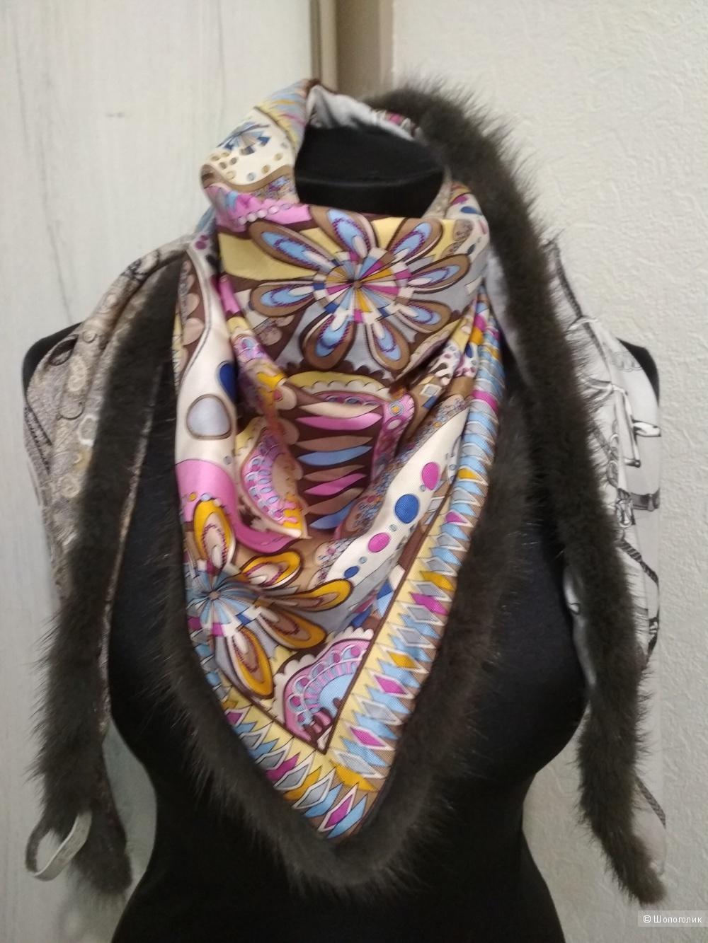 Шелковый шарф  MUCHO GUSTO, one size.