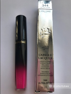 Lancome L'Absolu Lacquer Лаковая жидкая губная помада , оттенок 344