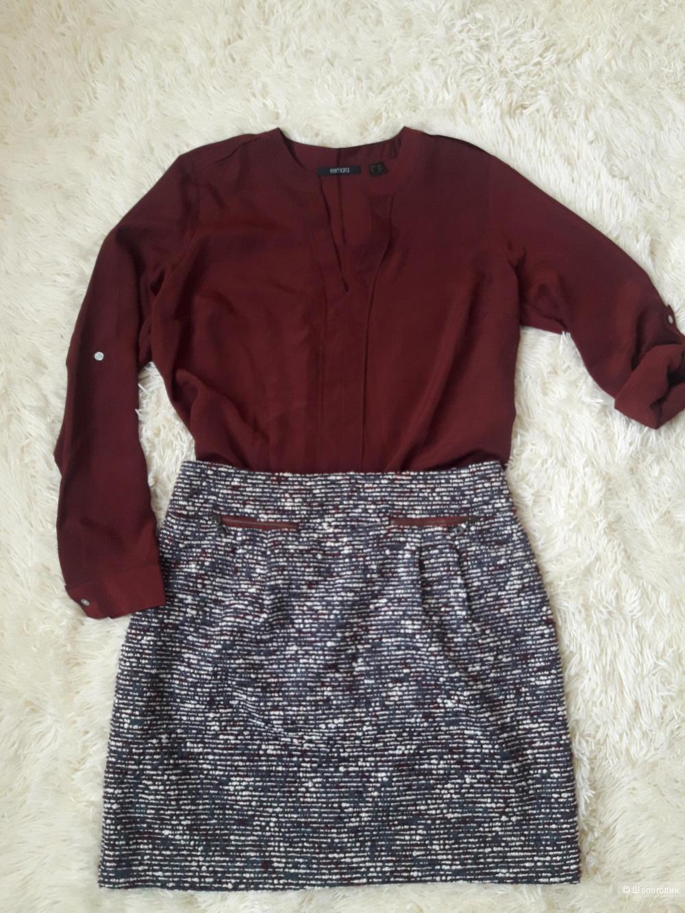 Юбка Loft и блузка Esmara, размер 44