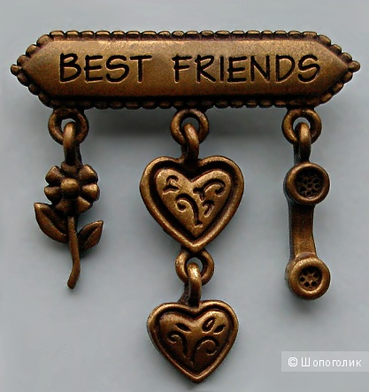 "Брошь JJ ""Best friends"""
