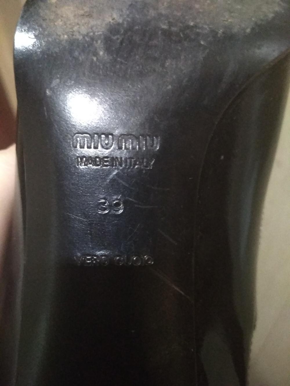 Туфли Miu miu 39
