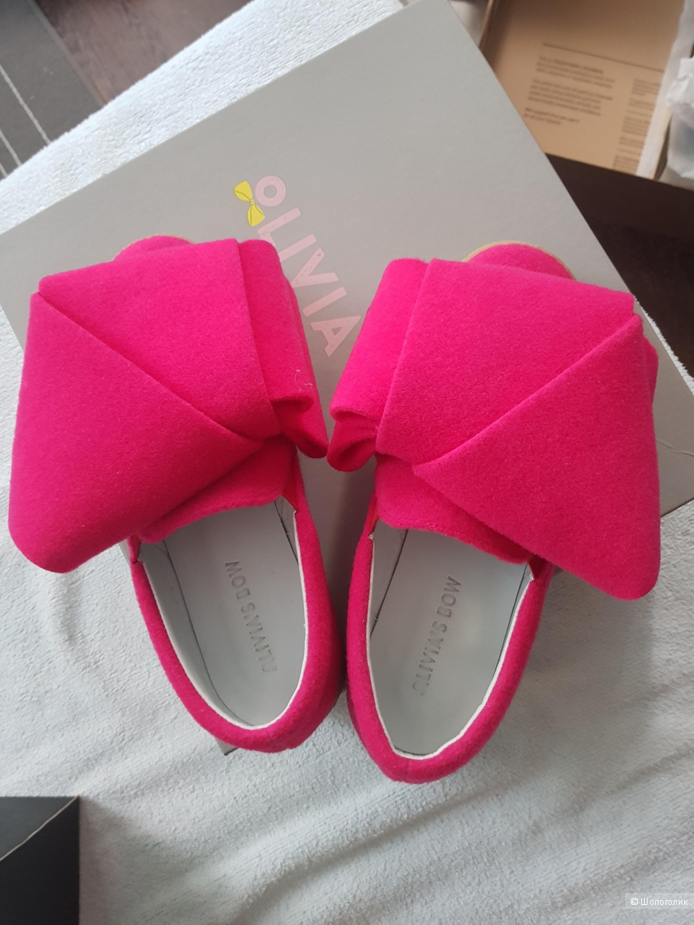 Слипоны Olivia's bow, 36 размер