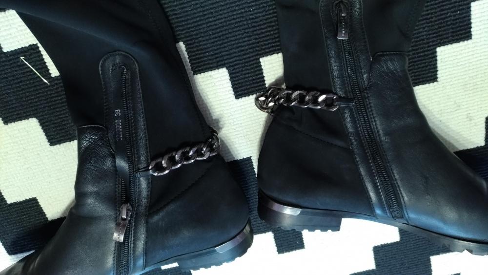 Massimo Santini сапоги -ботфорты,38 размер