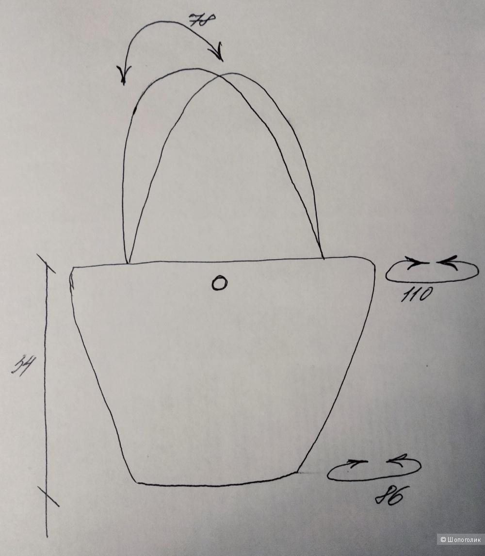 Сумка - соломенная корзина, No name, большой размер