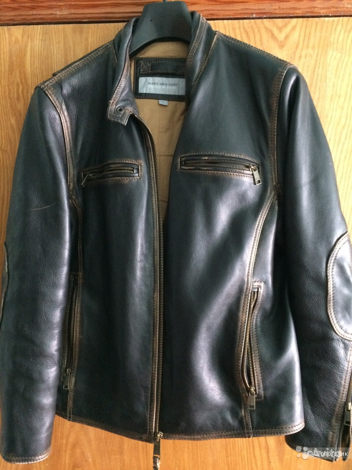 Куртка кожаная [ Marc New York Bedford Leather Moto o-Jacket-)