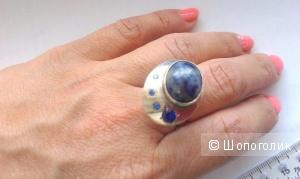 Кольцо с лазуритом 17 р-р