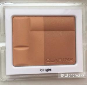 Clarins Bronzing Duo SPF 15 Компактная минеральная пудра с эффектом загара. Оттенок 01 и 03.