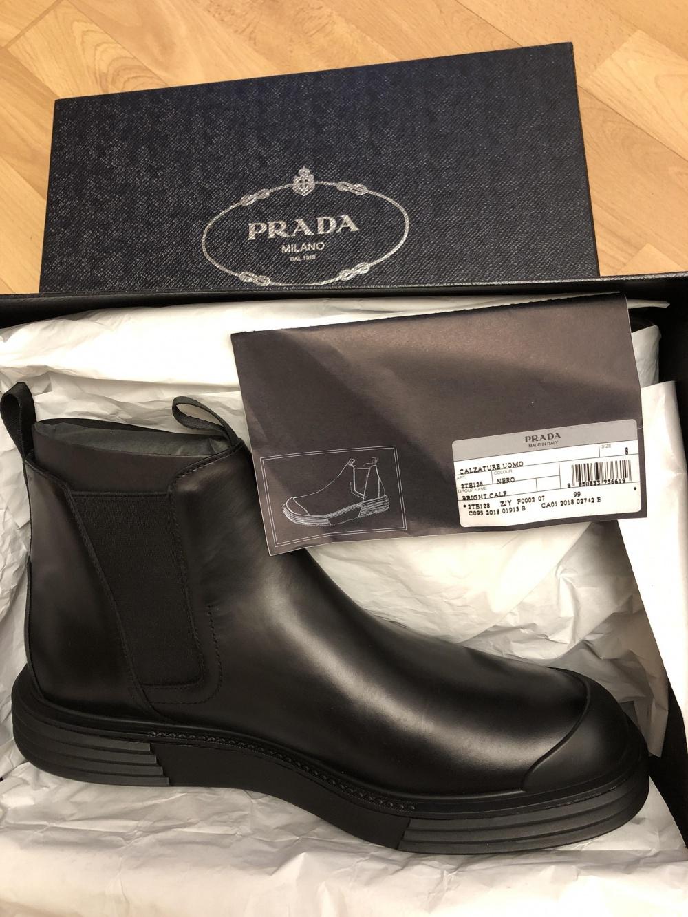 Ботинки Prada размер 8 чёрные
