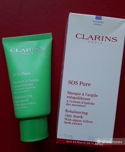 Clarins sos Pure Mask  Глиняная маска  Pure  для жирной пористой кожи 75 мл.