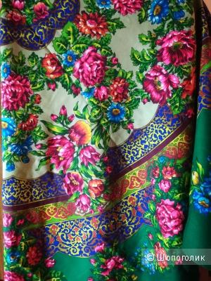 Шерстяной платок Русский Узор, 148х148