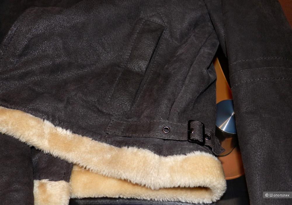 Дубленка кожаная куртка VERA PELLE 46-48