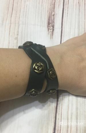 Двойной кожаный браслет