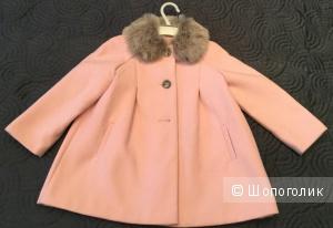 Красивое пальто для девочки Mothercare, 122