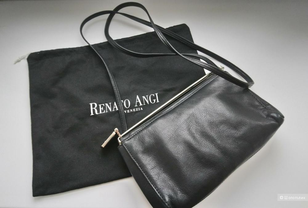 02d720602cc5 Сумка Renato Angi, one size. Черная сумочка из мягкой натуральной кожи ...