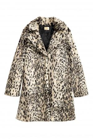 Пальто из искусственного меха H&M, размер 48