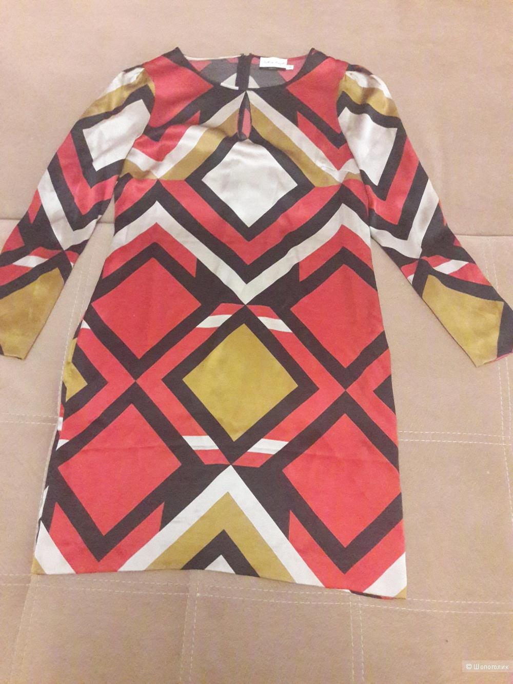 Шелковое платье Talking French 46-48 размера