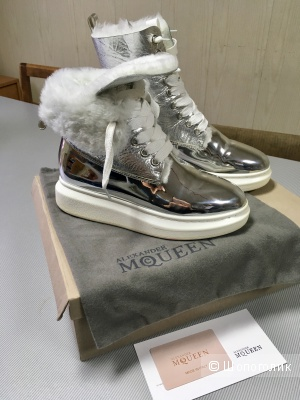 Зимние высокие ботинки McQueen, 38