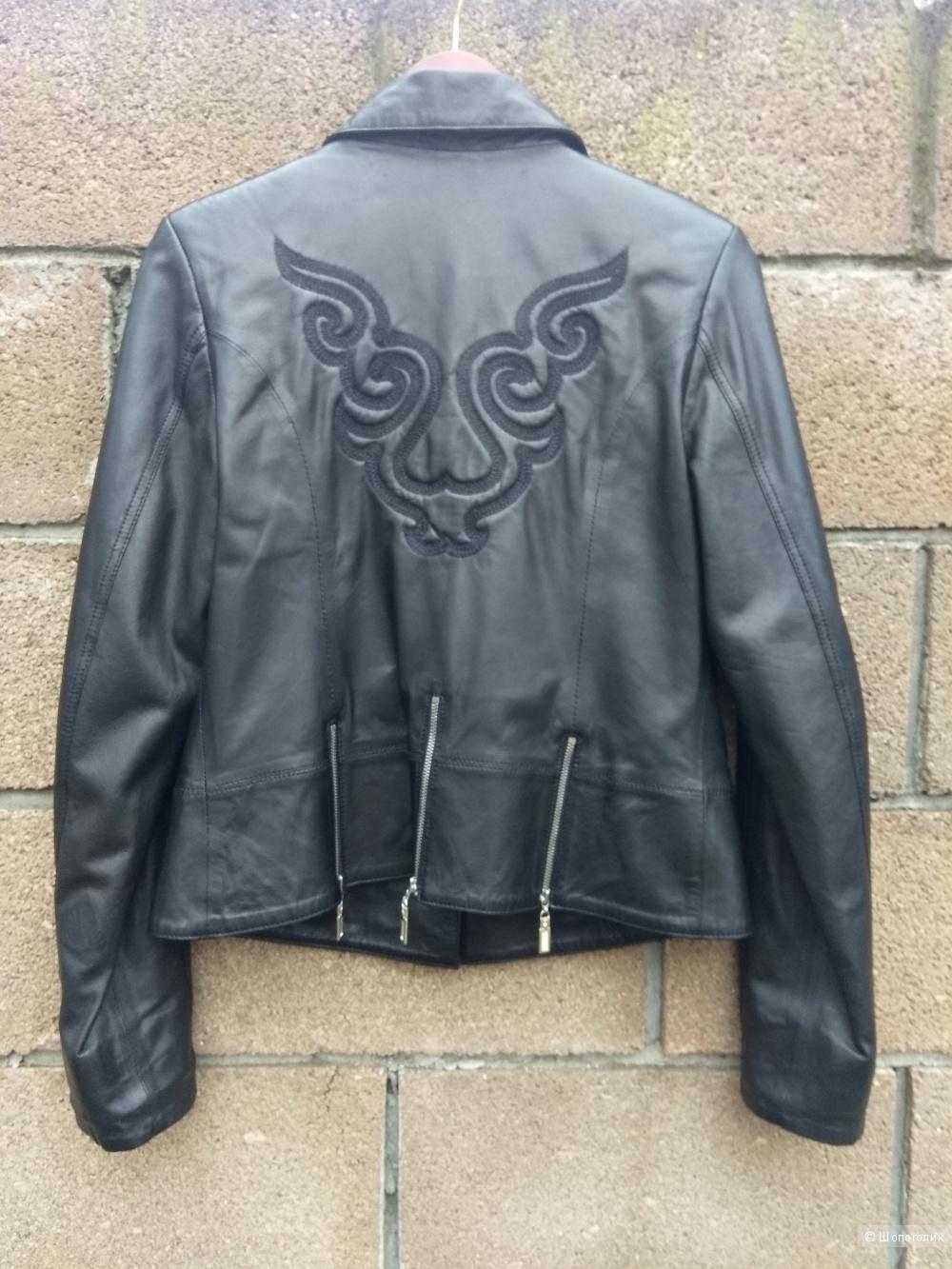 Куртка пиджак из кожи 46-48 размер Versal