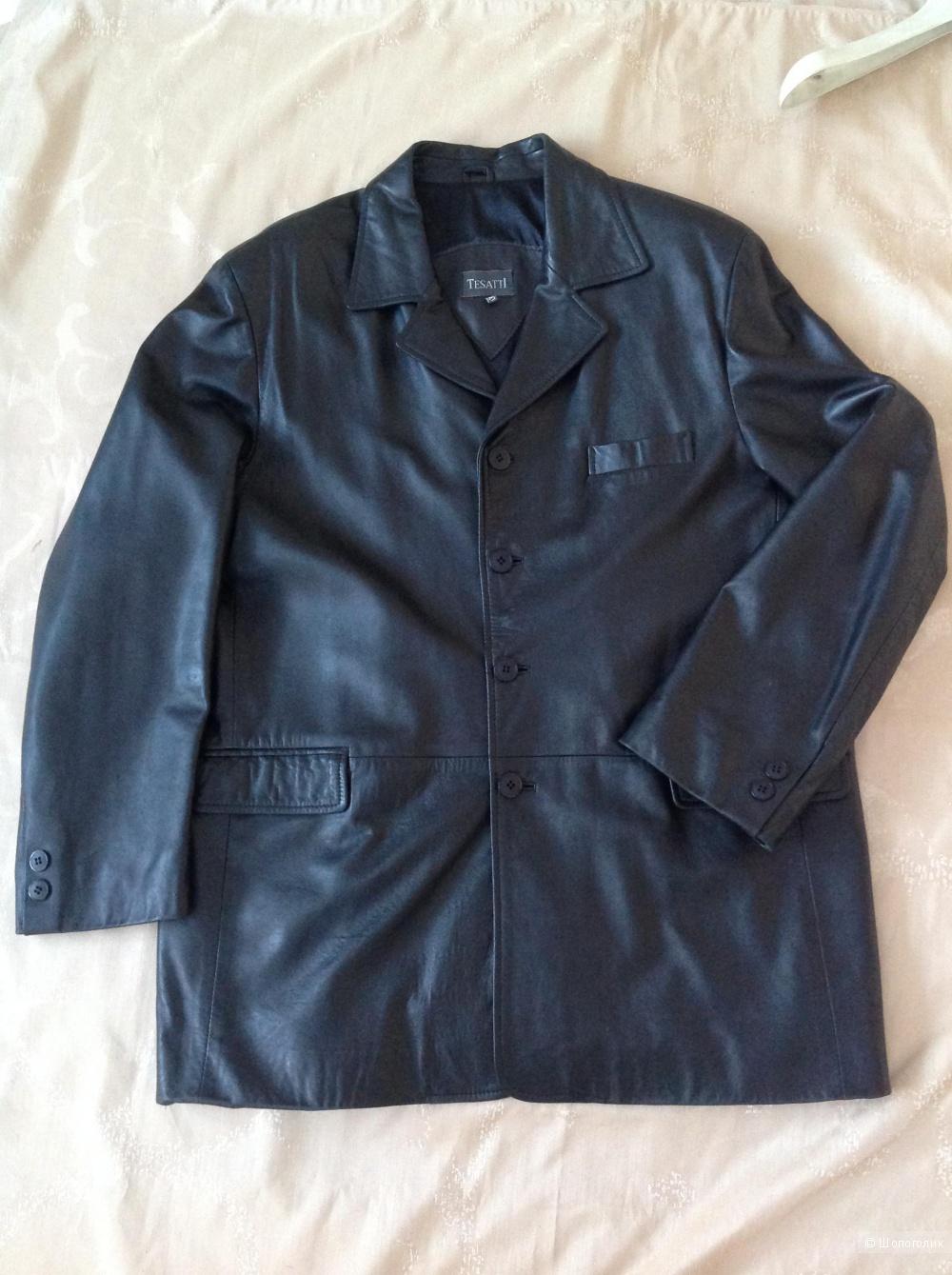 Кожаный пиджак Tesatti, размер 54-56-58