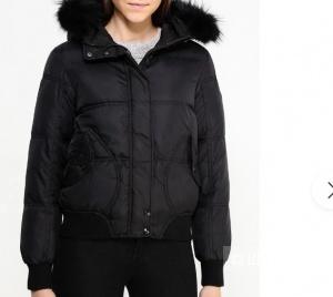 Коричневая куртка-пуховик Gas размер 44