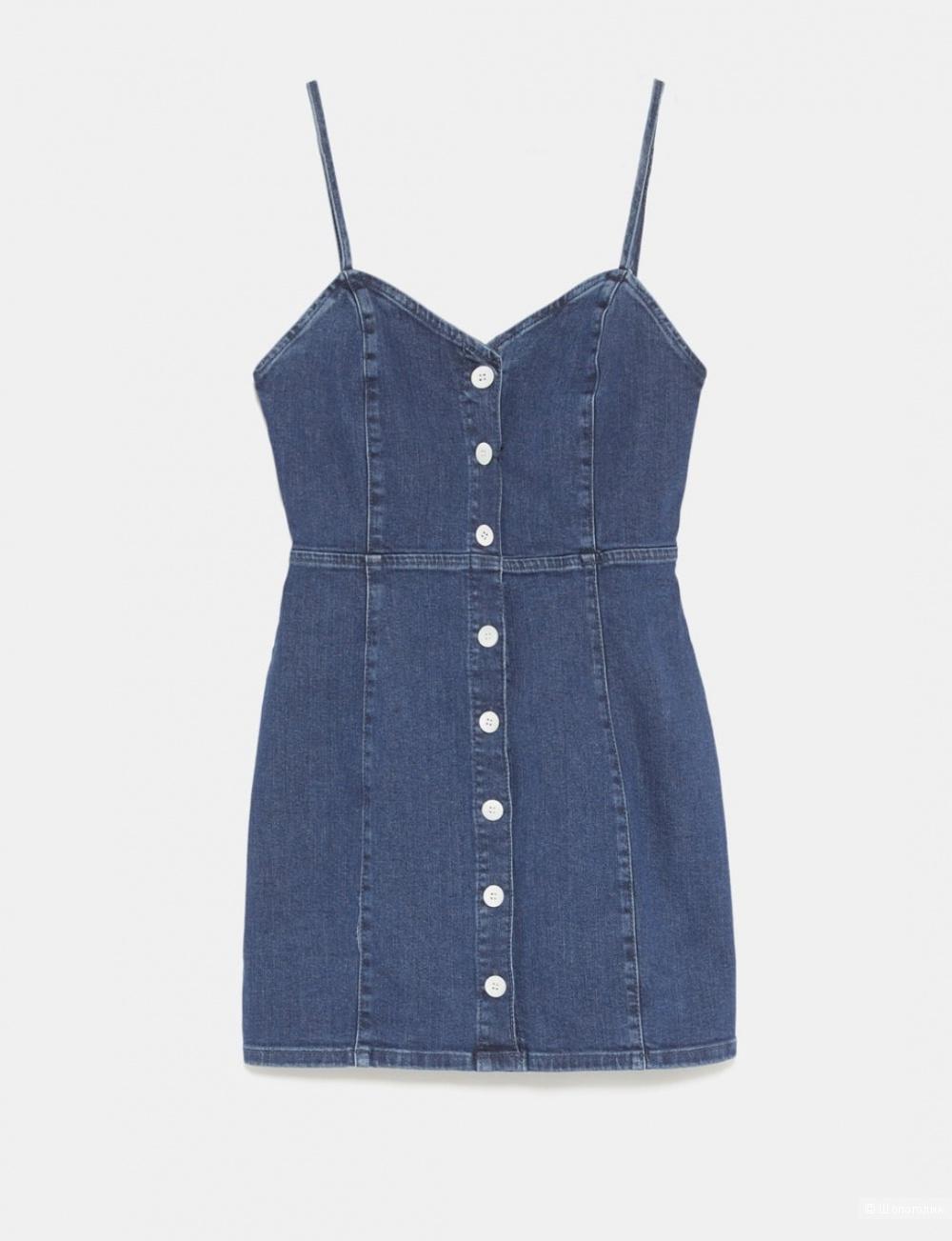 Джинсовое платье ZARA размер s