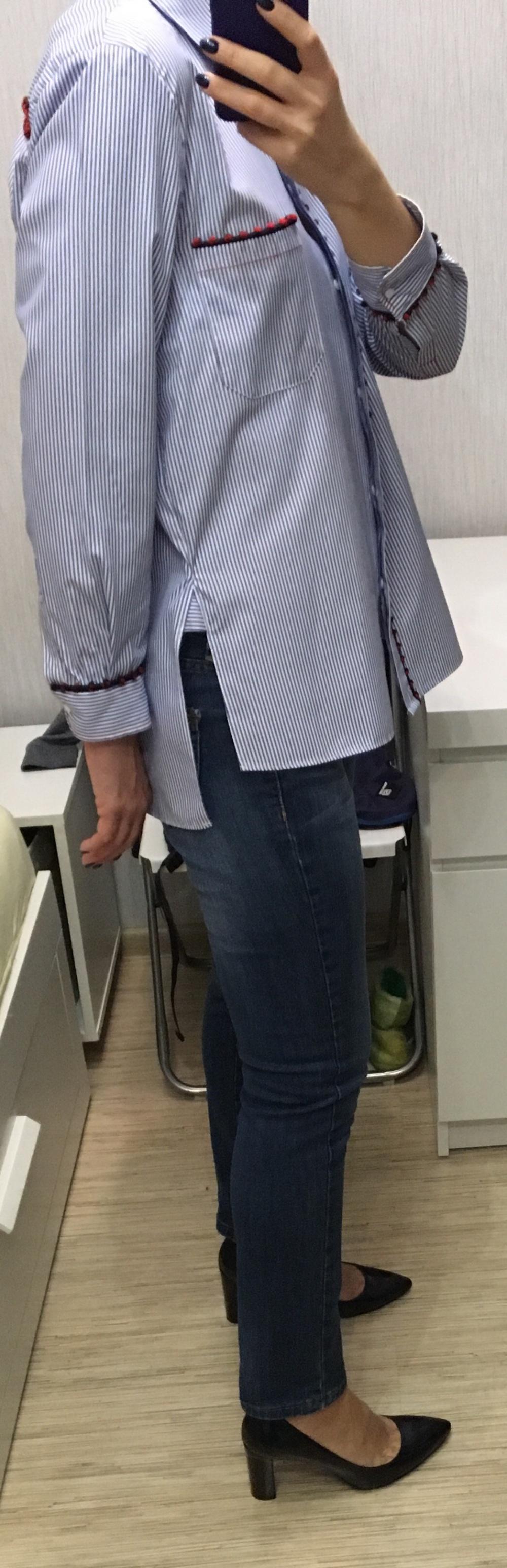 Сет рубашка Zara, размер М+ джинсы Bell Bottom, размер 44
