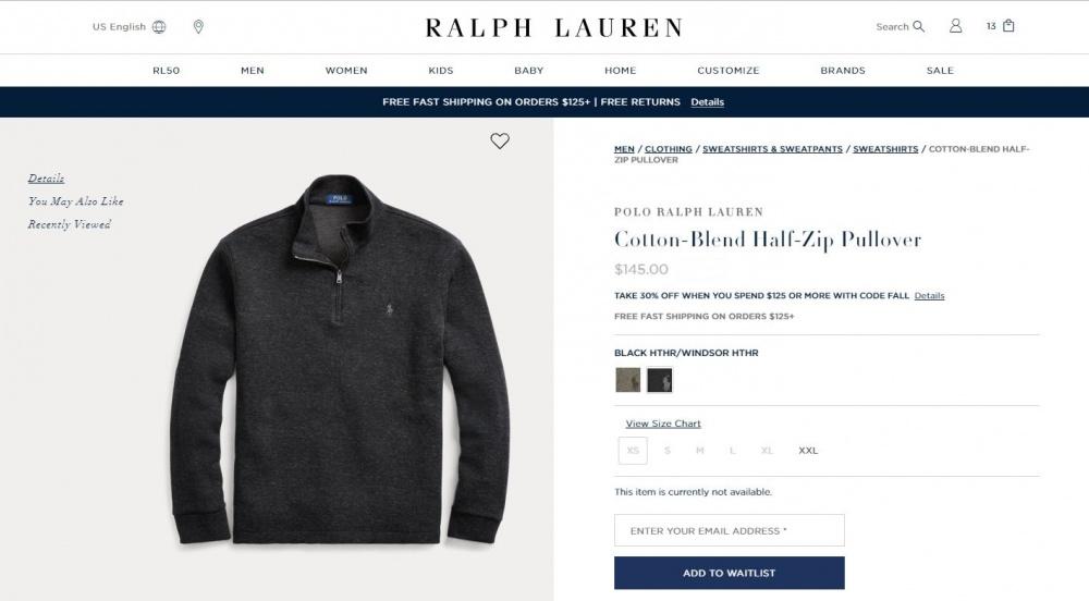 Свитер Ralph Lauren р.XL