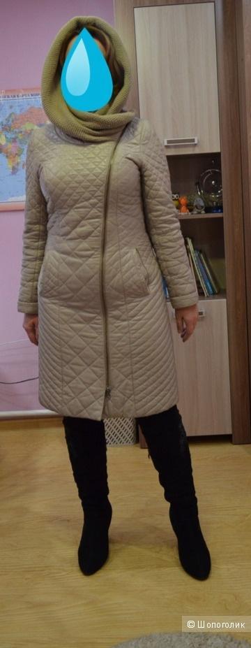 Кожаный плащ-пальто  Lady Sharm 44р-р