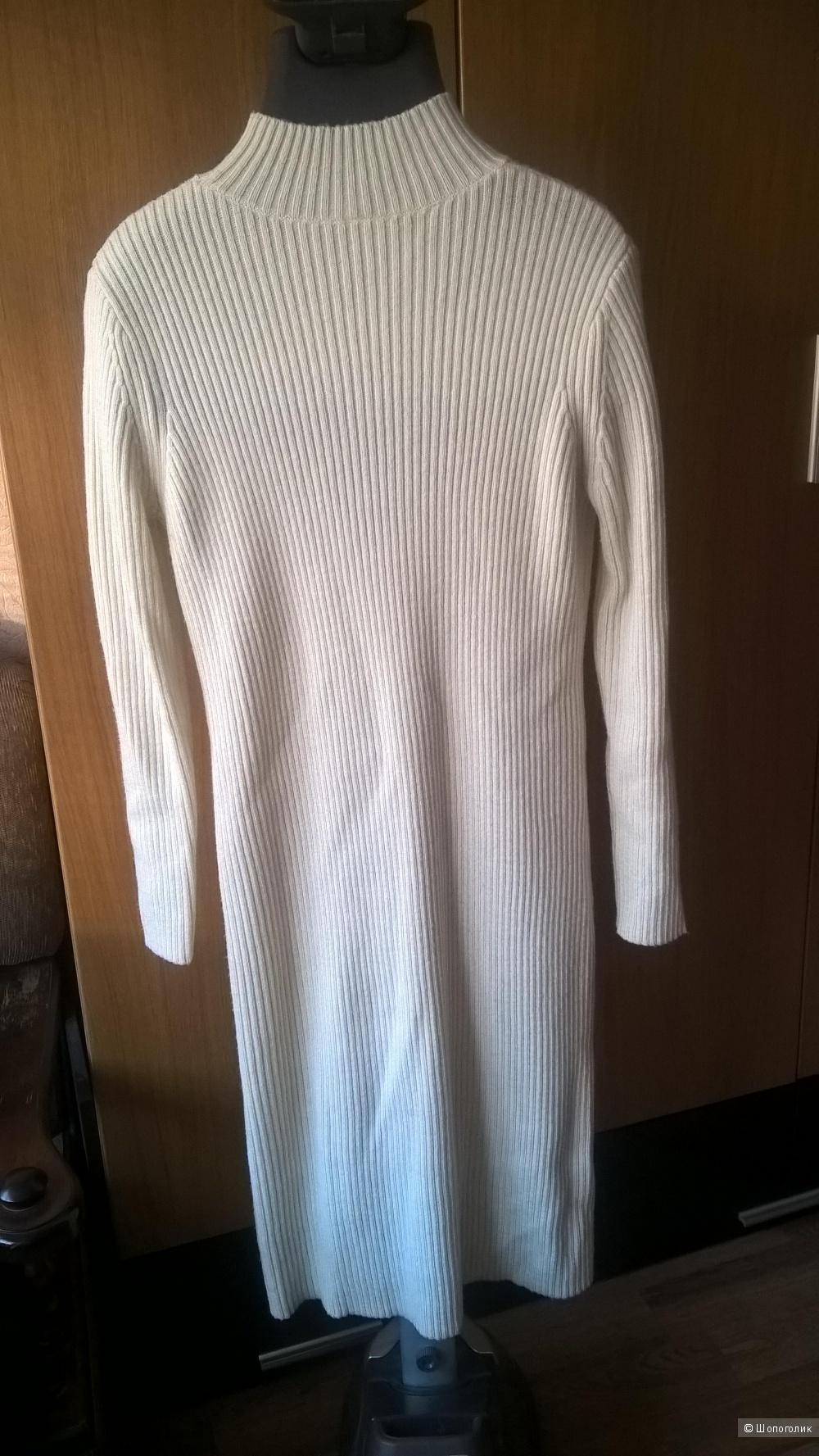 Платье Uniqlo, молочный цвет, L