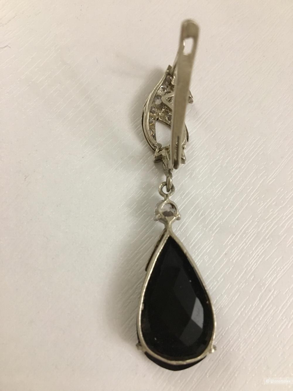 Комплект: серьги и кольцо, серебро