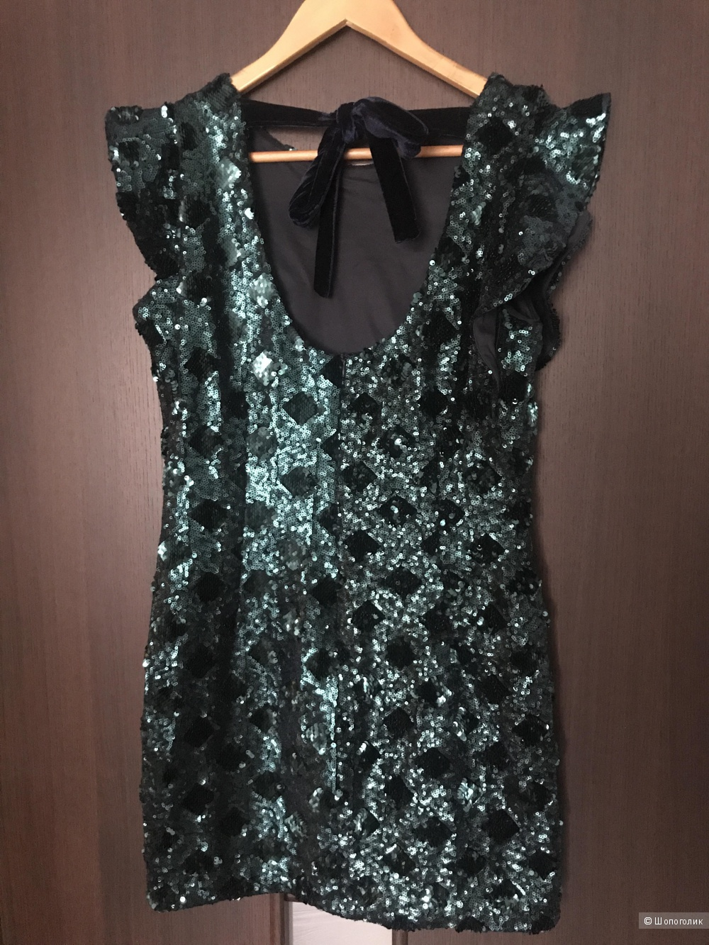 Платье в пайетках Zara