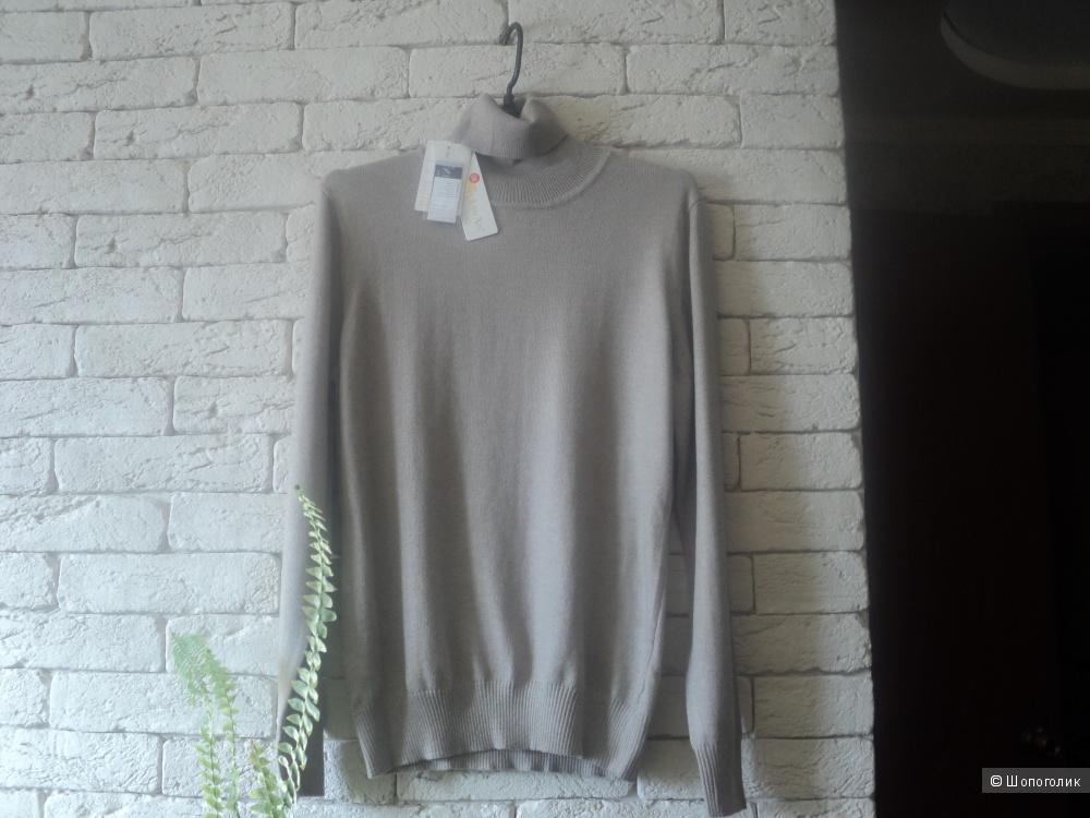 Кашемировый свитер,linexin disigned in California, размер 46 российский.