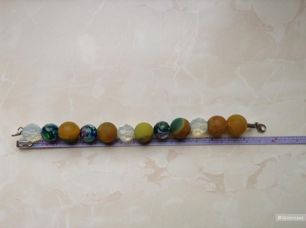 Браслет из натуральных камней, размер 19 см