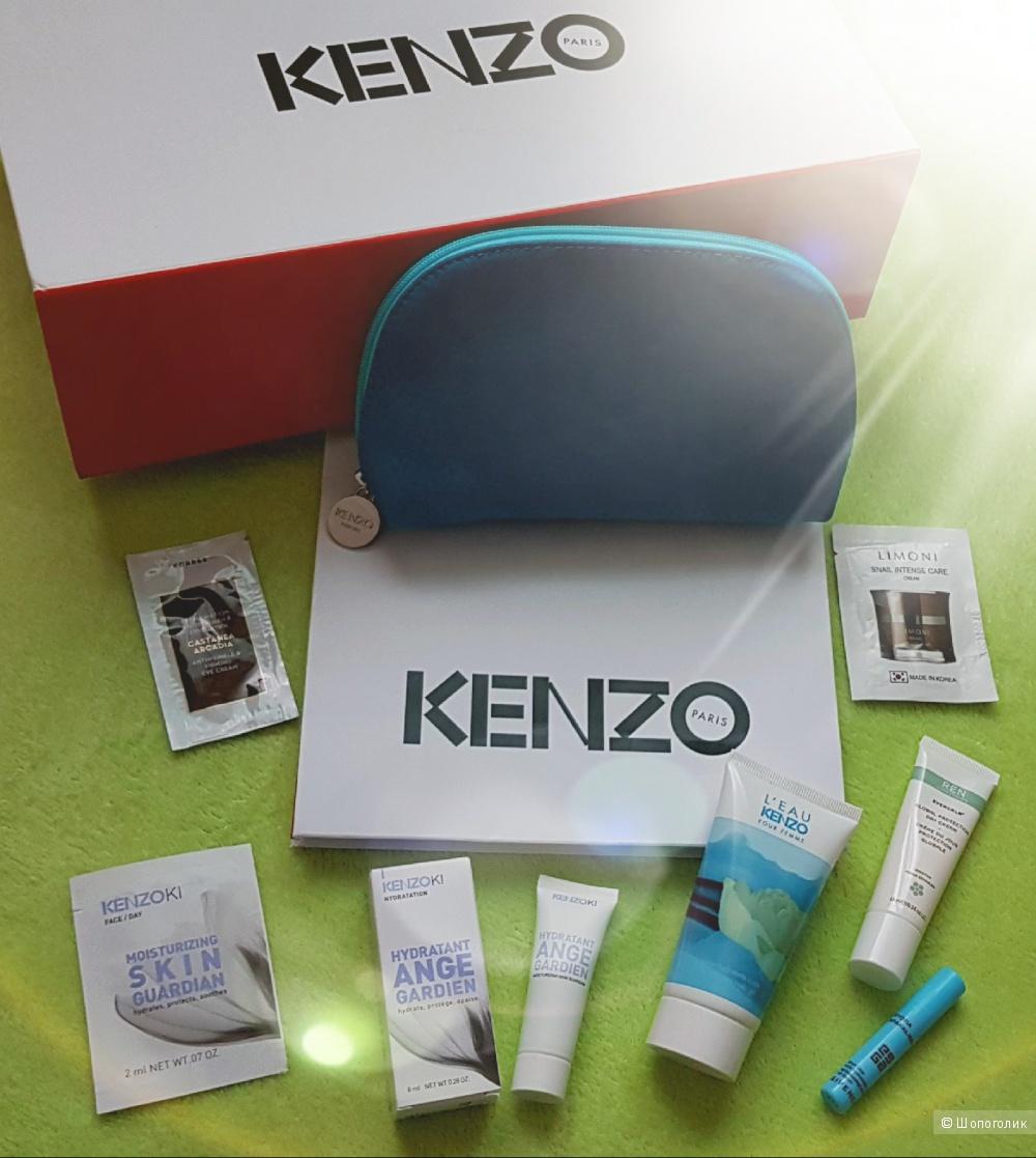 Сет уходовой косметики KENZOKI, Korres, REN, Givenchy с косметичкой KENZO