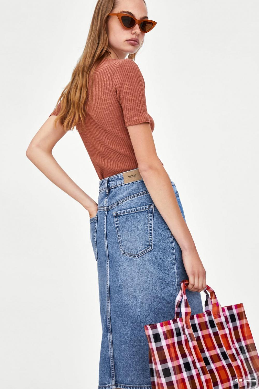 Джинсовая юбка-карандаш  ZARA, размер M-L