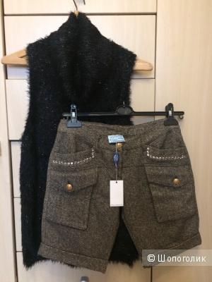 Сет из двух вещей: шерстяные шорты  Blumarine Blugirl + водолазка F&Ce 42-44