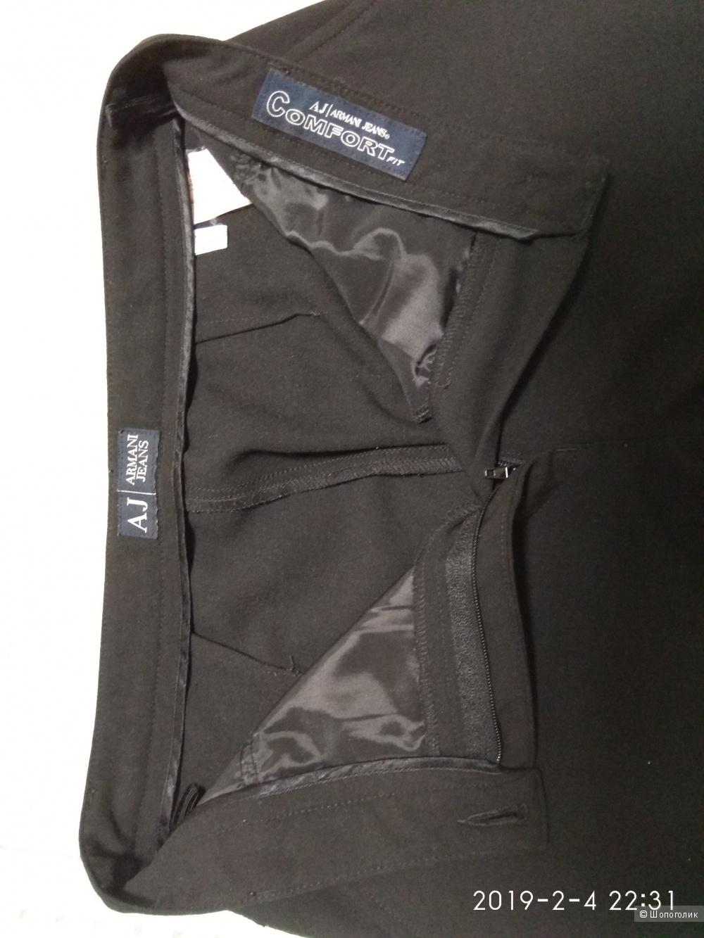 Черные классические брюки 42-44 Армани джинс