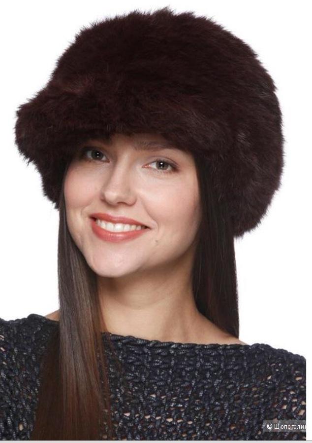 Меховая шапка / кепка »Вязаный мех», 55-58 размер